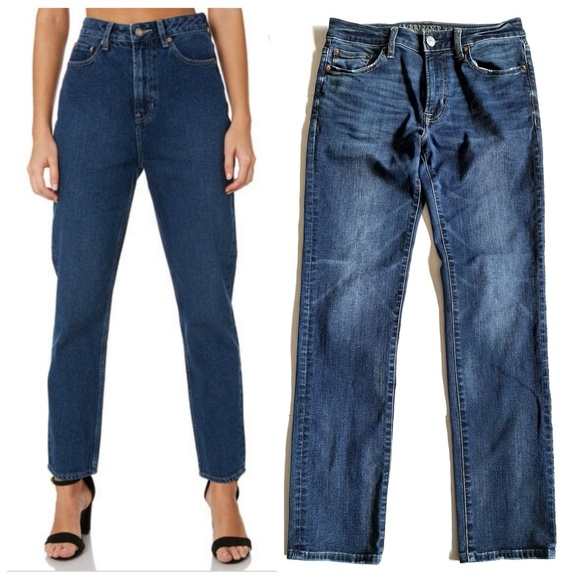 American Eagle Outfitters Denim - American Eagle Hi-Rise Slim Straight Jeans